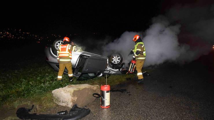 Am Montag verlor ein 18 Jähriger Lenker auf der Breitefeldstrasse die Kontrolle über sein Fahrzeug.