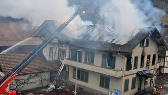 Brand des Gemeindehauses in Trubschachen