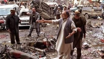 Schauplatz der Explosion in der südwestpakistanischen Provinzhauptstadt Quetta