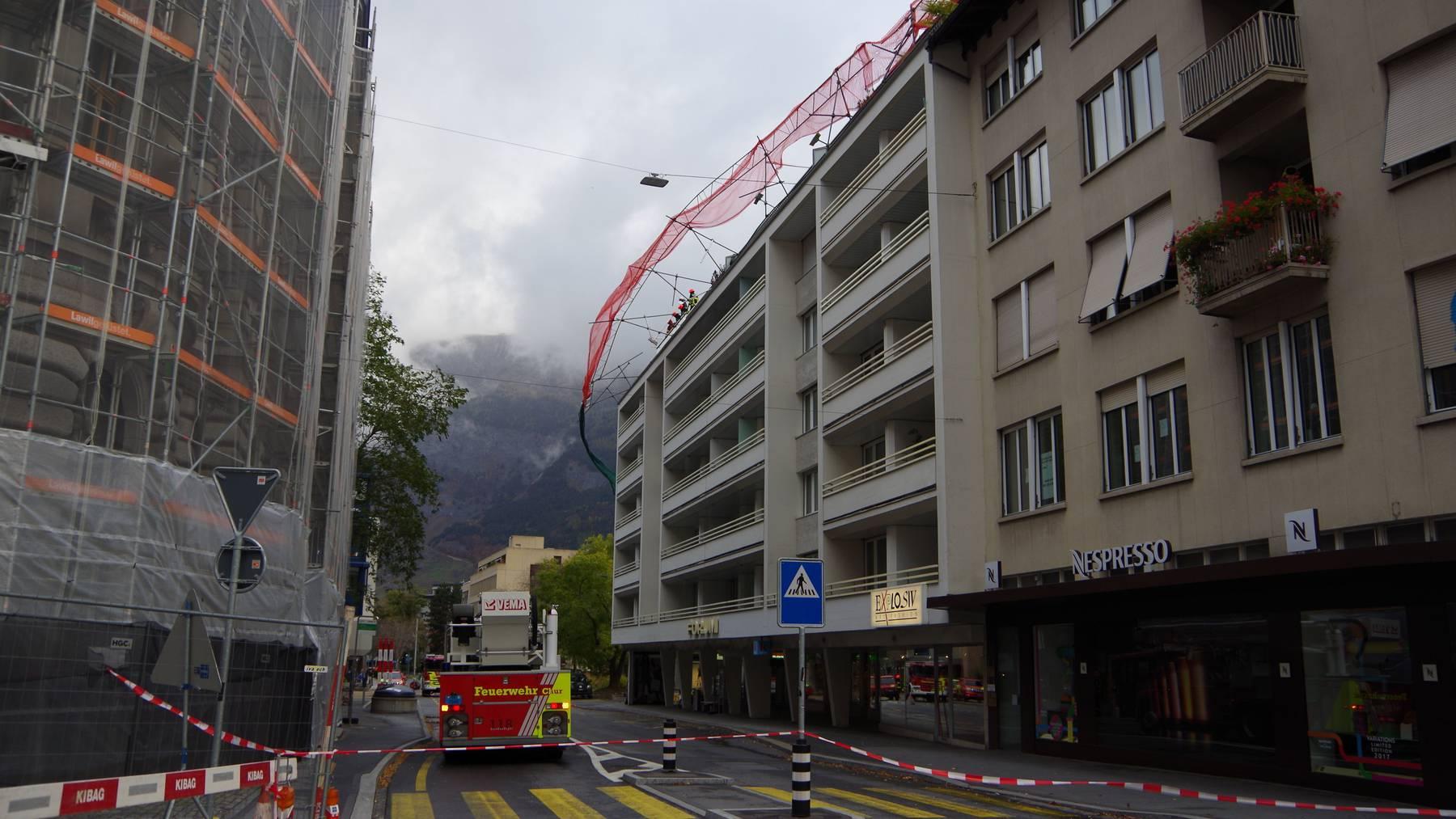 Das Sturmtief Hewart sorgte auch in Chur für Polizeieinsätze.