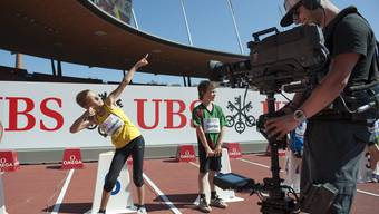 Klein übt sich: Die Nachwuchsathleten profitierten am UBS Kids Cup im Letzigrund von einer ausgezeichneten Infrastruktur.