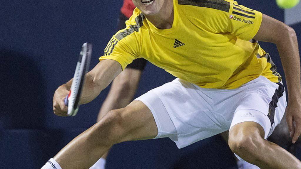 Arg in Rücklage: Dominic Thiem scheiterte in Montreal gleich in seinem ersten Spiel