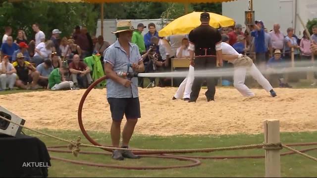 Hitzeschlacht am Solothurner Kantonalschwingfest
