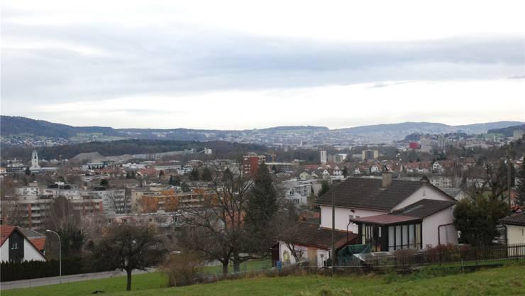 Der Blick über das Limmattal Richtung Zürich