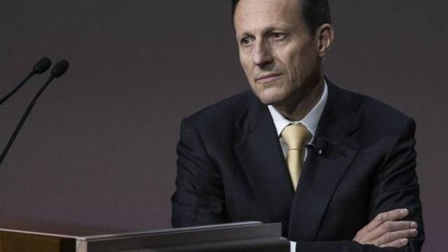 Daniel Vasella bei seiner letzten Novartis-Medienkonferenz (Archiv)