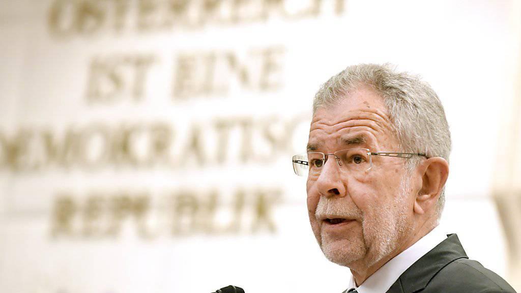 """""""Ich appelliere an alle Akteure, sich ihrer staatspolitischen Verantwortung bewusst zu sein"""": Österreichs Bundespräsident Alexander Van der Bellen. (Archivbild)"""