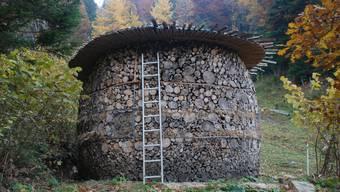 Eine Nisthilfe für die Wildbienen. (Quelle: WWF)