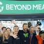 Vertreter der für vegane Burger bekannten Lebensmittelfirma Beyond Meat beim Börsengang Anfang Mail 2019 in New York. (Archivbild)