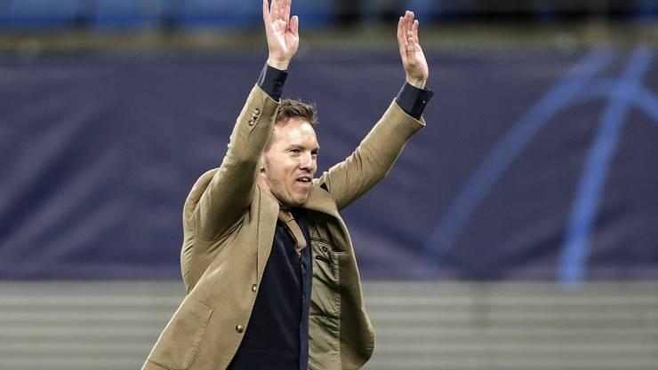 Julian Nagelsmanns RB Leipzig gewann das Champions-League-Rückspiel gegen Tottenham mit 3:0.