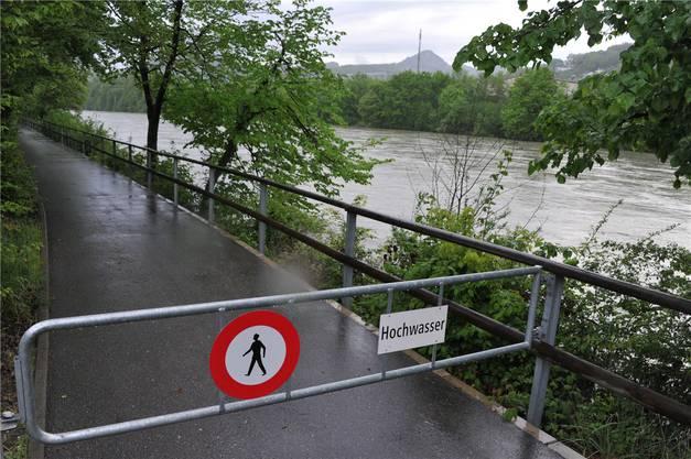 Gesperrt: Uferweg Gösgerstrasse