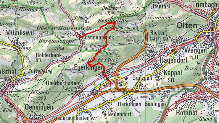 Mittwoch, 20. Juli. Von Egerkingen nach Langenbruck