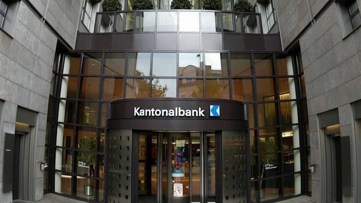 Die Eingangspartie zum Hauptsitz der Kantonalbank in Aarau. ROJ