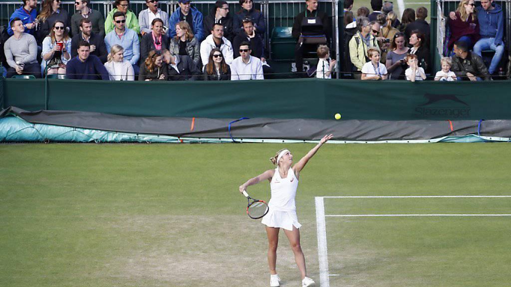 Verlängerung auf dem kleinen Court 15: Timea Bacsinszky verlor am Samstag gegen Monica Niculescu kein Game mehr