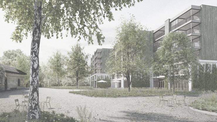 Mit ihrem Beitrag Der Himmel ist grün konnten Liechti Graf Zumsteg Architekten den Wettbewerb schliesslich für sich entscheiden.