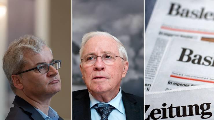 Christoph Blocher verkauft die «Basler Zeitung» an Tamedia – «BaZ»-Chefredaktor Markus Somm (links) wird Autor.