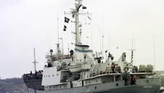 """Das bei der Kollision gesunkene Aufklärungsschiff """"Liman"""" (Archiv)"""
