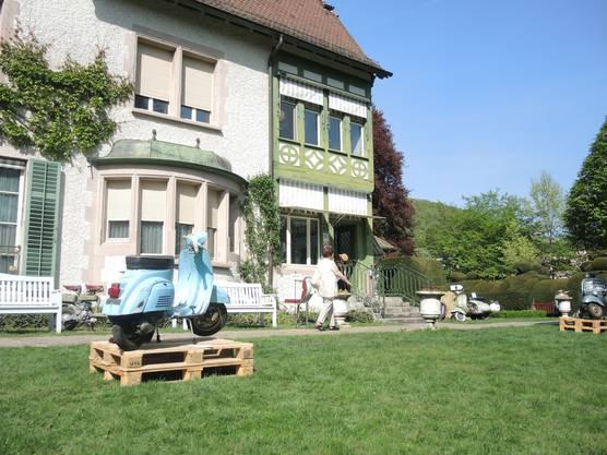 Schöne Kulisse im Park der Villa Langmatt