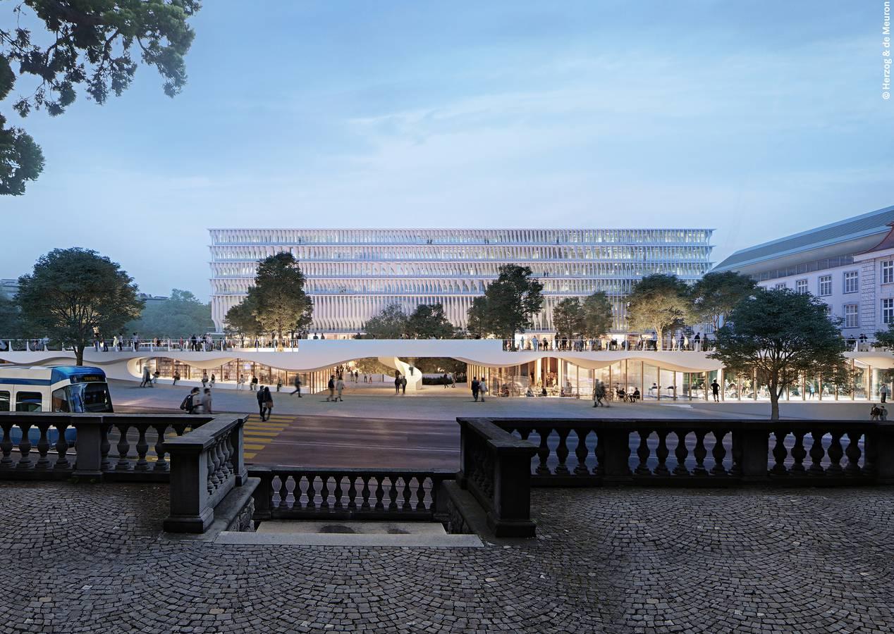 Das neue Forum der Uni Zürich an der Raemistrasse (© Herzog und de Meuron)