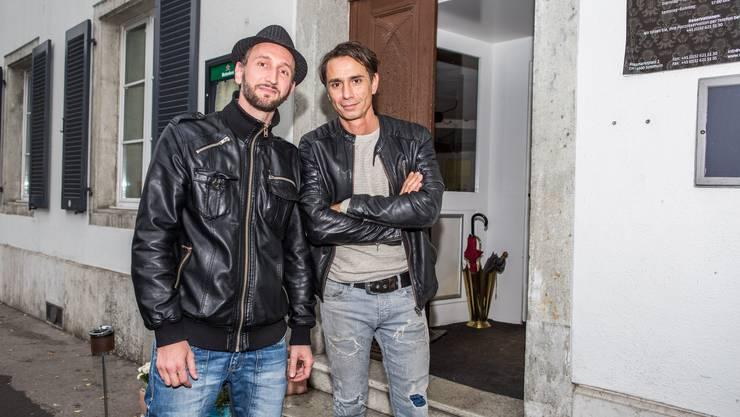 Mauro Valli (links) und Giuseppe De Grandis (Wirt und Inhaber des Restaurant Volkshaus).