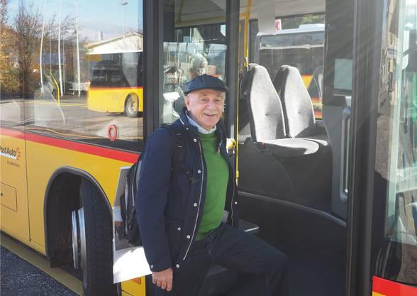 Mit dem Postauto in den TNW-Kampf: Herbert Lützelschwab aus Zeiningen.