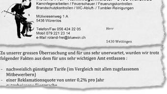Ausriss aus dem Brief von Roland Frei an 3500 Kunden.