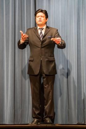 E Rampass bi de Bebbi: Lukas Ott, früherer Liestaler Stadtpräsident und nun Kantons- und Stadtentwickler in Basel-Stadt, wird imitiert.