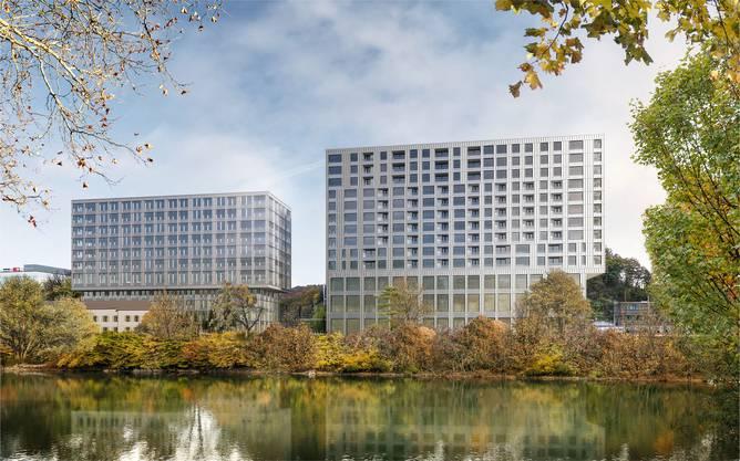 «Ein schöner Reichtum an sattelfesten und überzeugenden Ideen»: Für das Baufeld 2 (links) wurde das Team fsp Architekten AG aus Spreitenbach als Sieger auserkoren.
