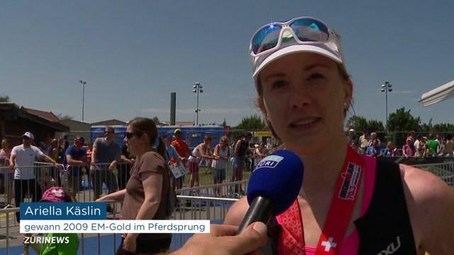 Ariella Käslin an Halb-Ironman