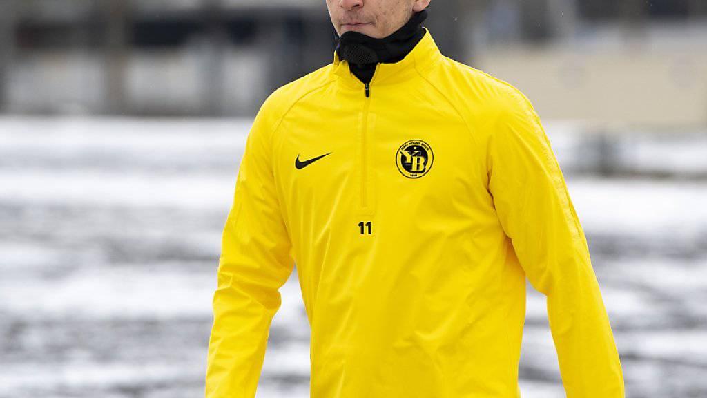 Gianluca Gaudino: erstes Training mit YB im winterlichen Bern