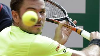 Den Ball perfekt im Fokus: Stan Wawrinka überzeugte im Viertelfinal in Monte Carlo auf der ganzen Linie