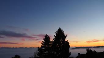 Wunderschöner Sonnenuntergang.