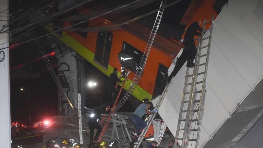 Mindestens 20 Tote bei Brückeneinsturz in Mexiko-Stadt