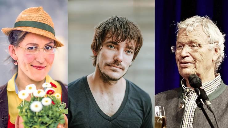 Aus Bayern: Martina Schwarzmann, Peter Fischer (Mitte) und Altmeister Gerhard Polt geben sich in Olten die Ehre.