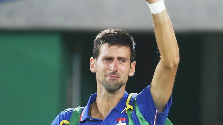 Trauriger Abschied: Nach dem Einzel verlor Novak Djokovic im olympischen Tennisturnier in Rio auch im Doppel