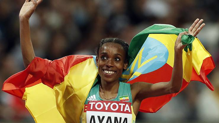 Almaz Ayana gewann an den Weltmeisterschaften in London hoch überlegen Gold über 10'000 m