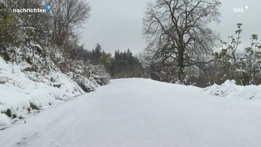 Wintereinbruch in der Zentralschweiz