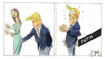 """Felix Schaads Trump-Karikatur erschien am 12. Januar 2017 im """"Tages-Anzeiger""""."""