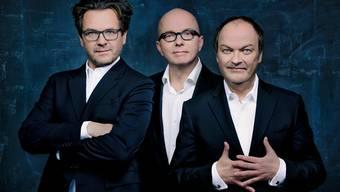 Die Sprecher der drei ???: Andreas Fröhlich, Oliver Rohrbeck und Jens Wawrczeck (v. links).