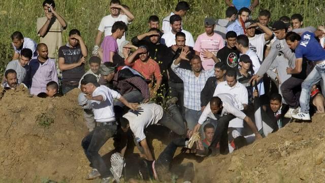 """Werden gemäss Israel """"missbraucht"""": Palästinensische Demonstranten"""