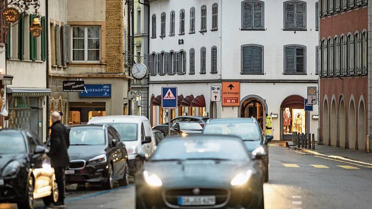 Noch ist der Ortskern von Bad Zurzach stark befahren. Das soll sich bis 2023 ändern.