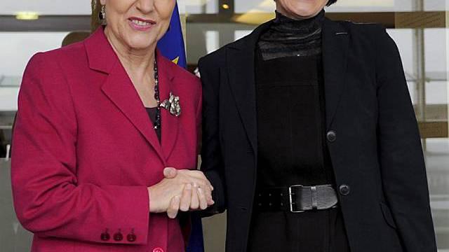 Ferrero-Waldner und Calmy-Rey in Brüssel
