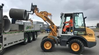 Die Arbeiten an der Mega-Baustelle beim Autobahnzubringer Lenzburg haben im März begonnen.
