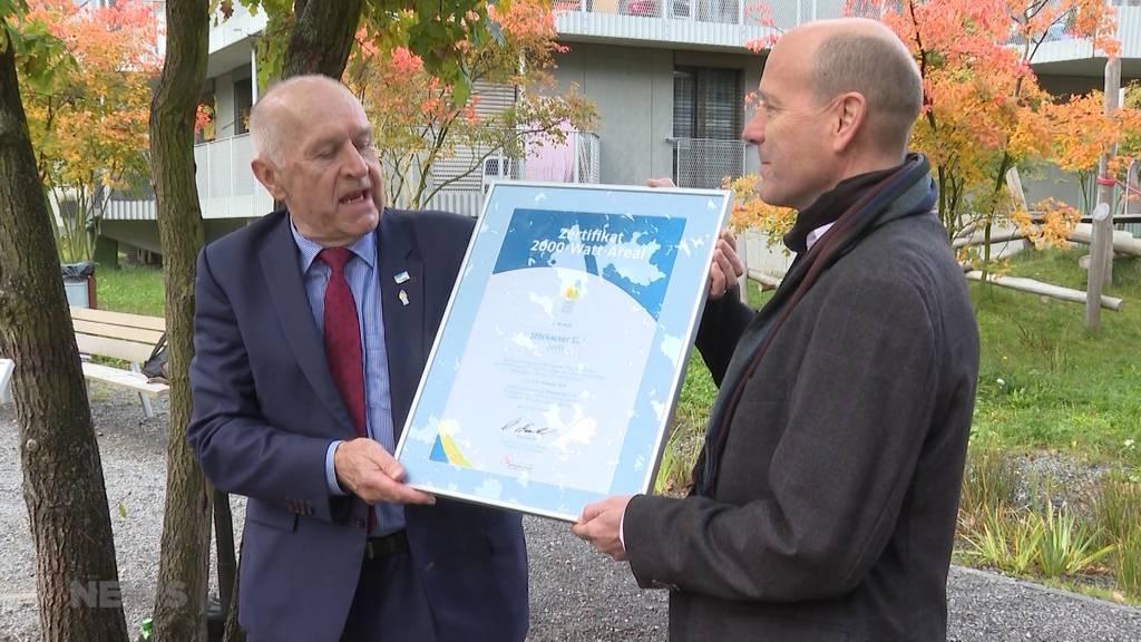 Klima-neutrales Wohnen im Stöckacker erhält 2000-Watt-Areal-Auszeichnung