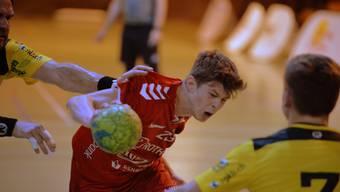 Der Solothurner Dylan Brandt (M.) leidet mit dem TV Solothurn mit: Seit fünf Spieltagen konnte seine Mannschaft keinen Sieg mehr einfahren.