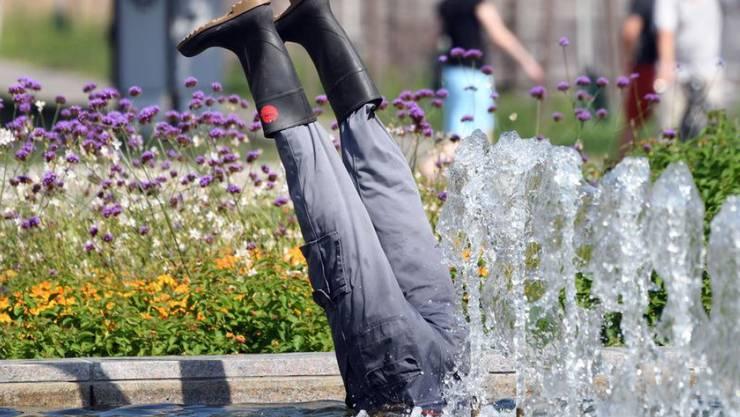 2019 kam so ein Spring-Brunnen gerade recht, denn es war das heisseste Jahr in Europas Geschichte. Was wir geahnt haben, hat der EU-Klimadienst Copernicus jetzt bestätigt. (Archivbild August 2019)