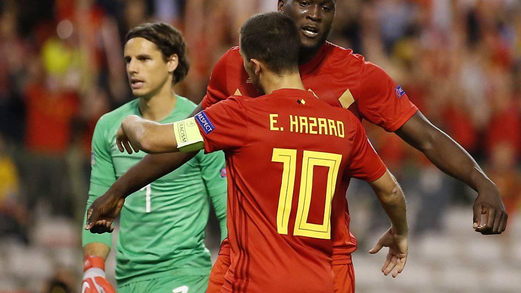 Romelu Lukaku bezwang Yann Sommer (im Hintergrund) im Hinspiel zweimal