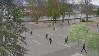 So sollte der Kreuzackerplatz nach der Sanierung aussehen.