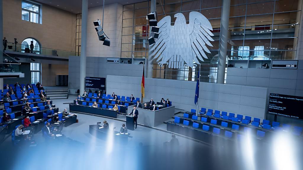 Plenum des Deutschen Bundetags. Foto: Kay Nietfeld/dpa