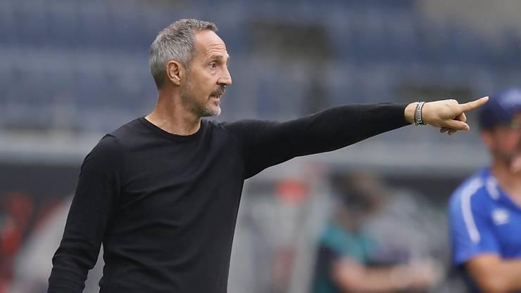 Frankfurt-Trainer Adi Hütter warnt den FCB: Seine Spieler seien in einer guten Verfassung.