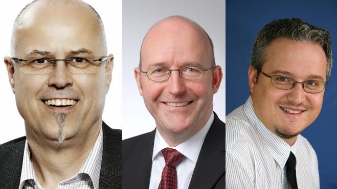 Die neuen Kölliker Gemeinderäte: Roland Frei, Christoph Müller und Mario Schegner